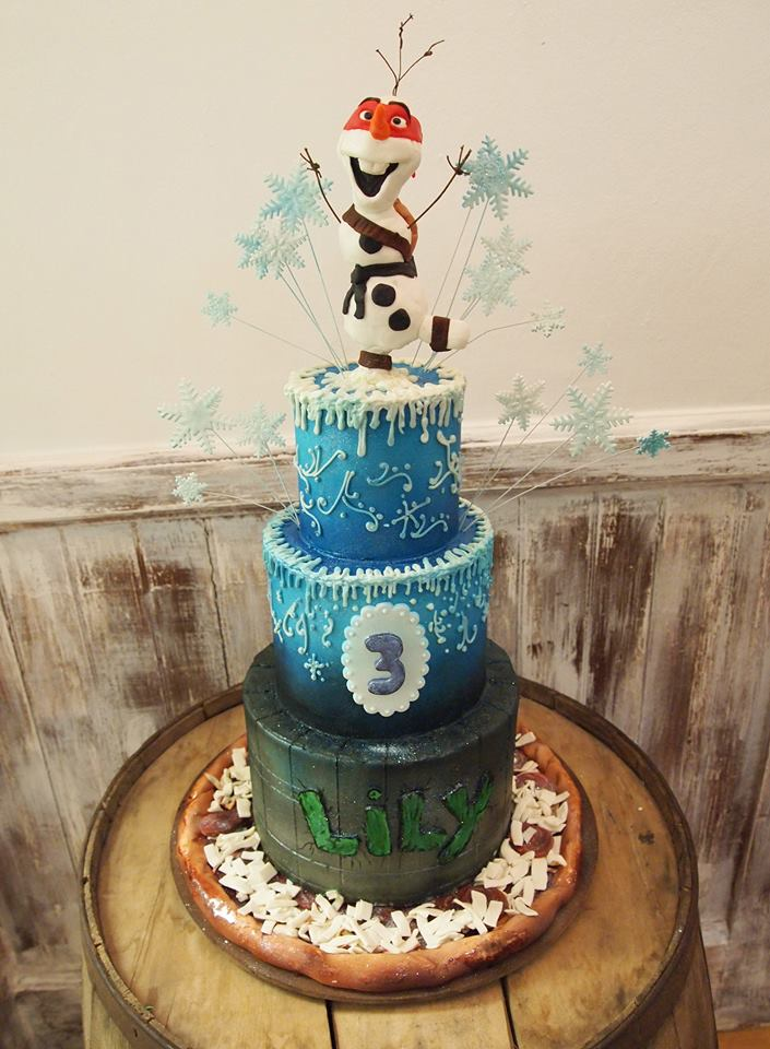 Frozen Ninja Turtle Themed Cake