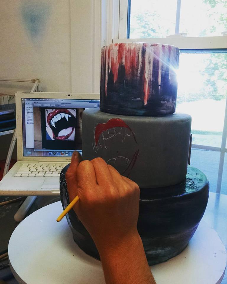 Handpainted Artist Cake