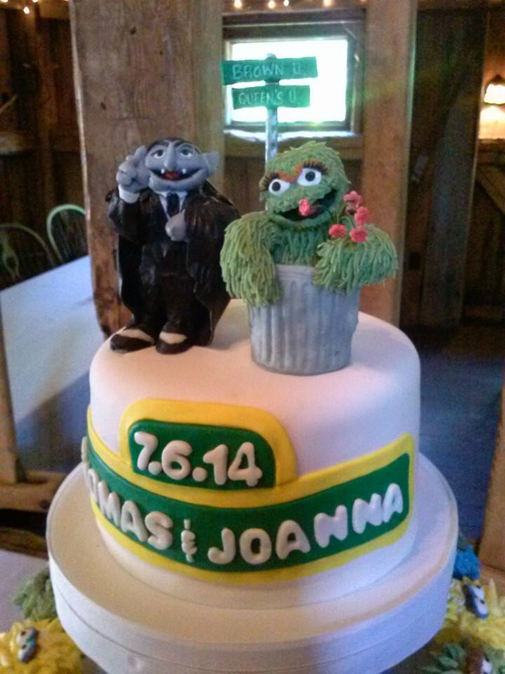 The Count and Oscaretta Cake Topper