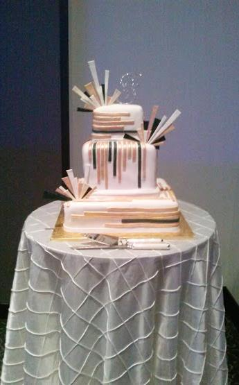 Art Deco Inspired Cake