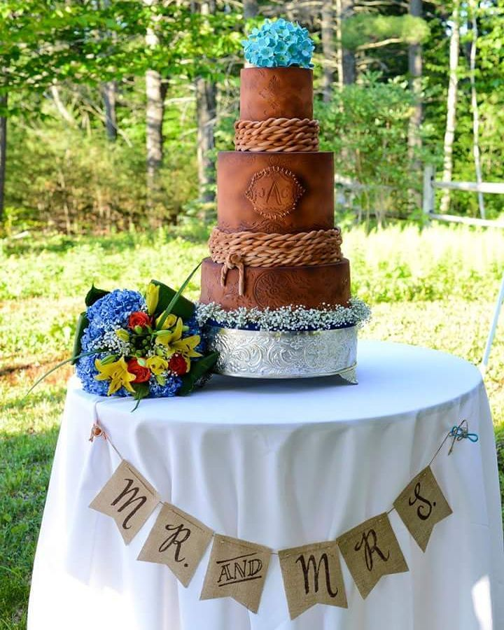 Leather Inspired Cake