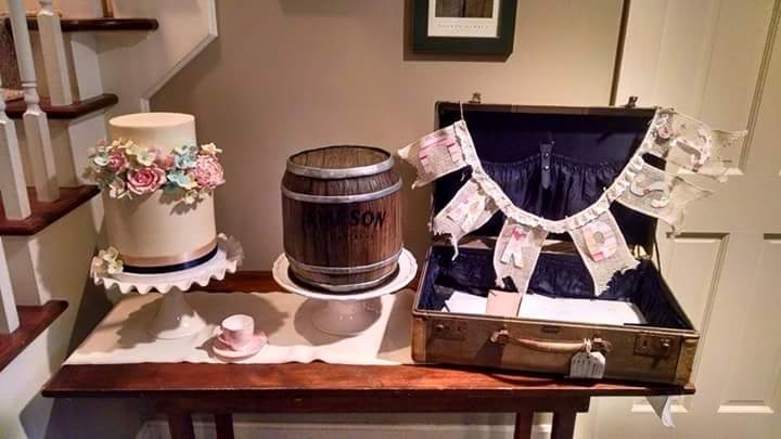 Shabby Chic and Jameson Barrel Grooms Cake