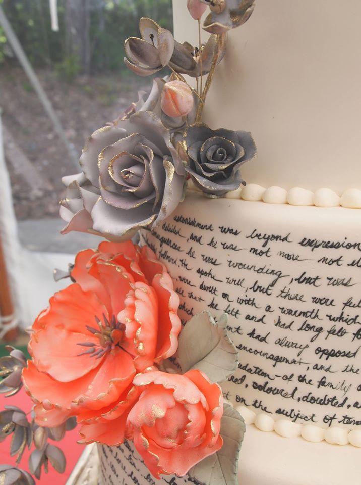 Handpainted Pride and Prejudice Cake