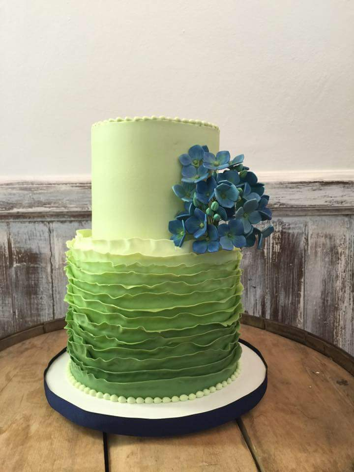 Ombre Wedding Cake with Hydrangeas