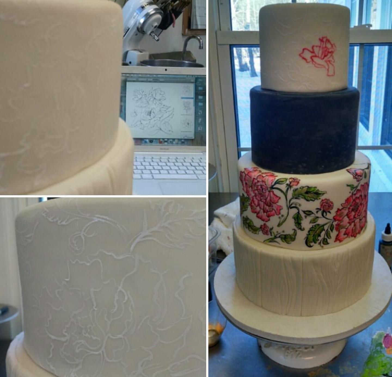 Love Cake in Progress