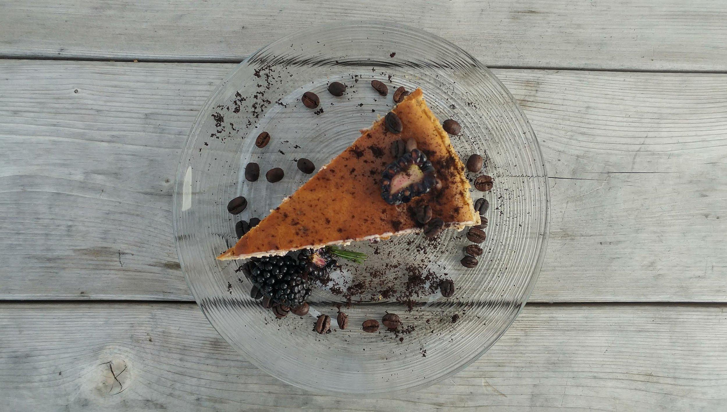 Blackberry Espresso Cheesecake