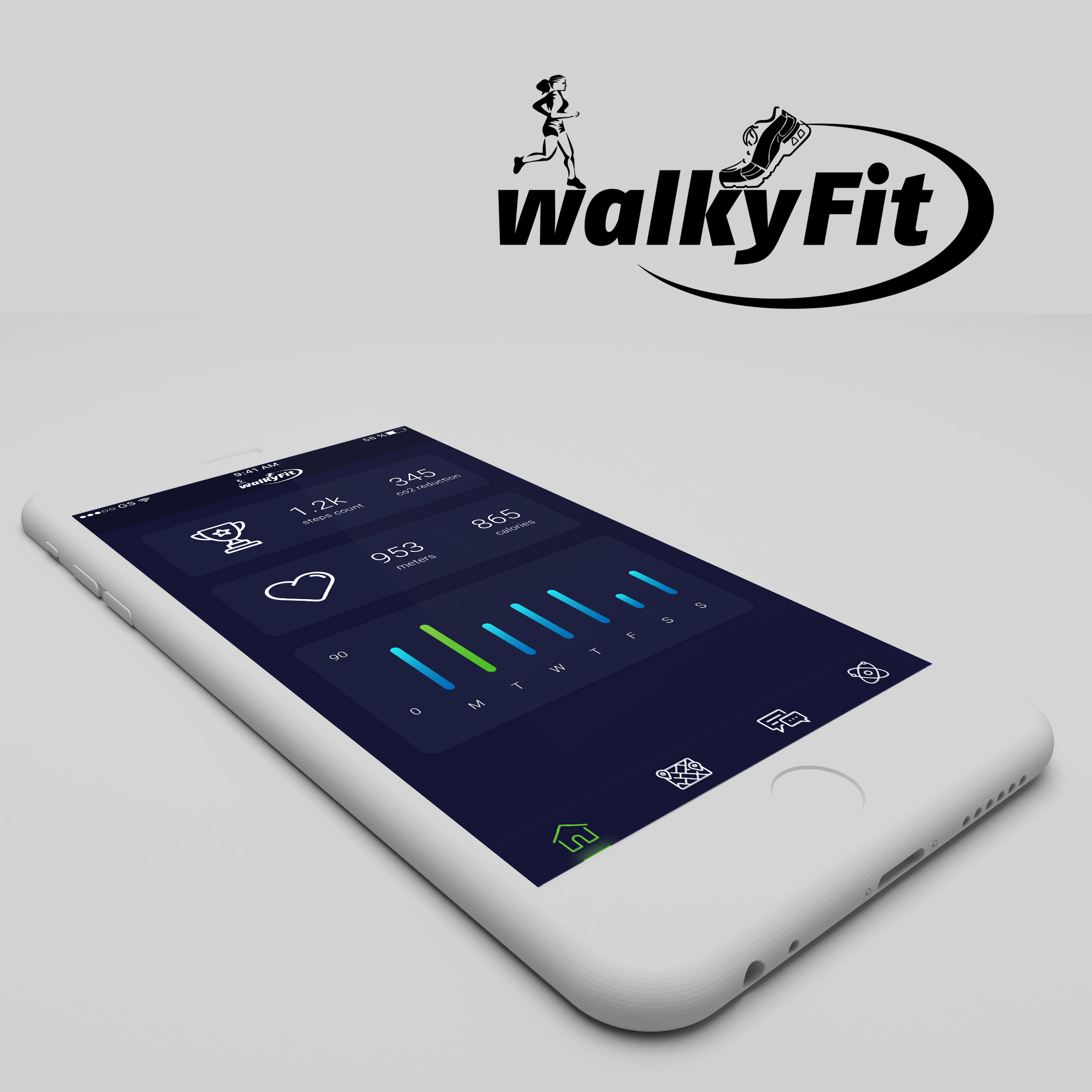 WalkyFit (cryptocurrency for activities)