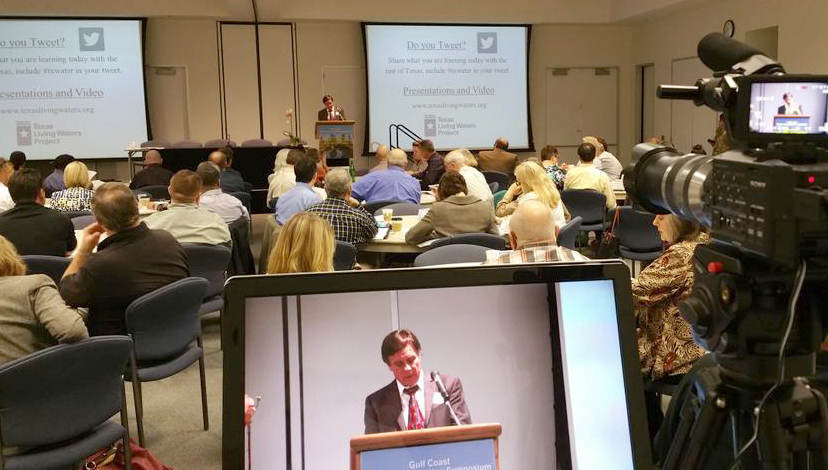 In this March 4, 2015, courtesy photo, Paul R. Nelson, assistant general manager with the Lone Star Groundwater Conservation District, addresses attendees at the 2015 Gulf Coast Water Conservation Symposium. Registration is open for the 2016 Gulf Coast Water Conservation Symposium, which will be held March 9, at TexasWater.org. This year's theme is 'New Frontiers in Conservation.'