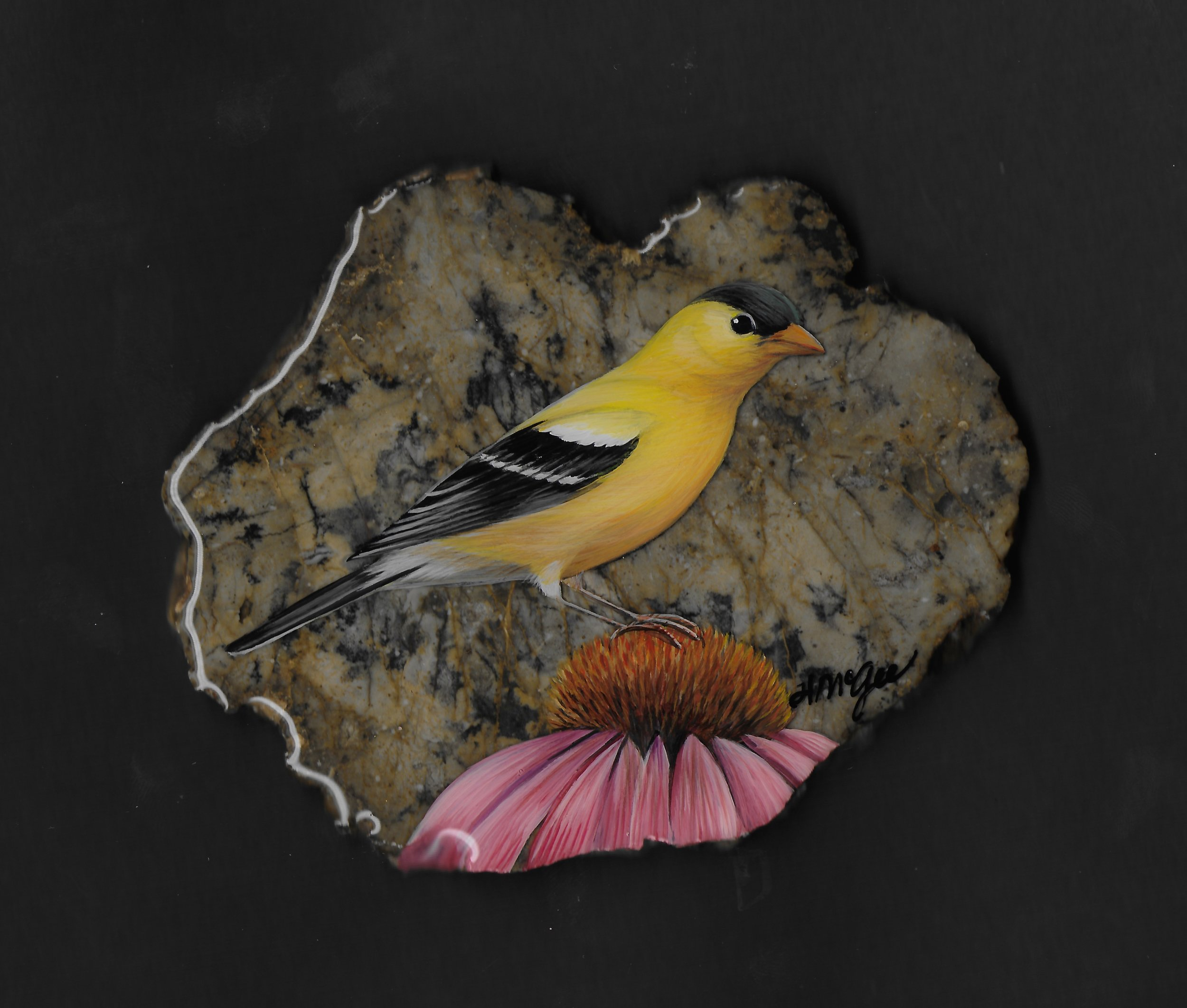 Goldfinch / Moss Agate