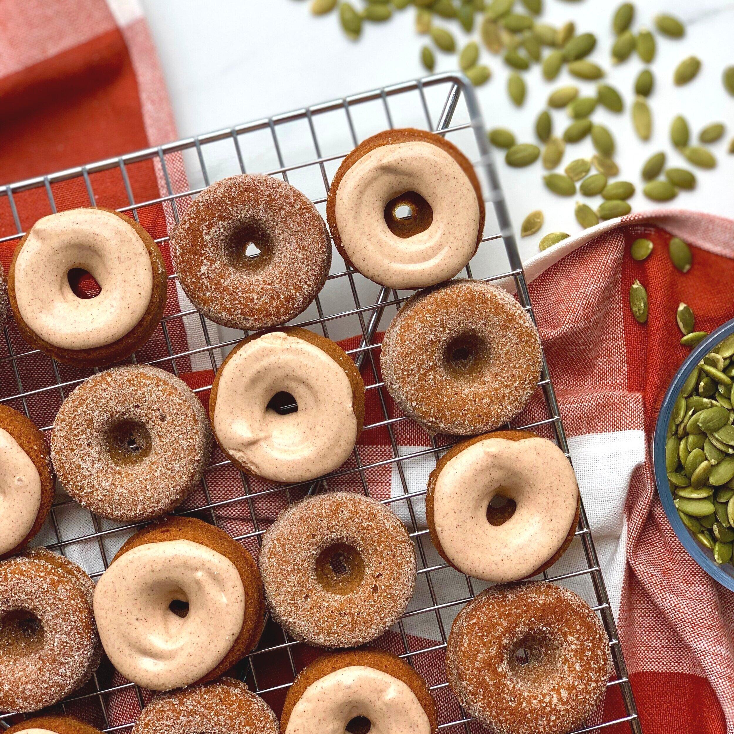 Mini Pumpkin Spice Donuts