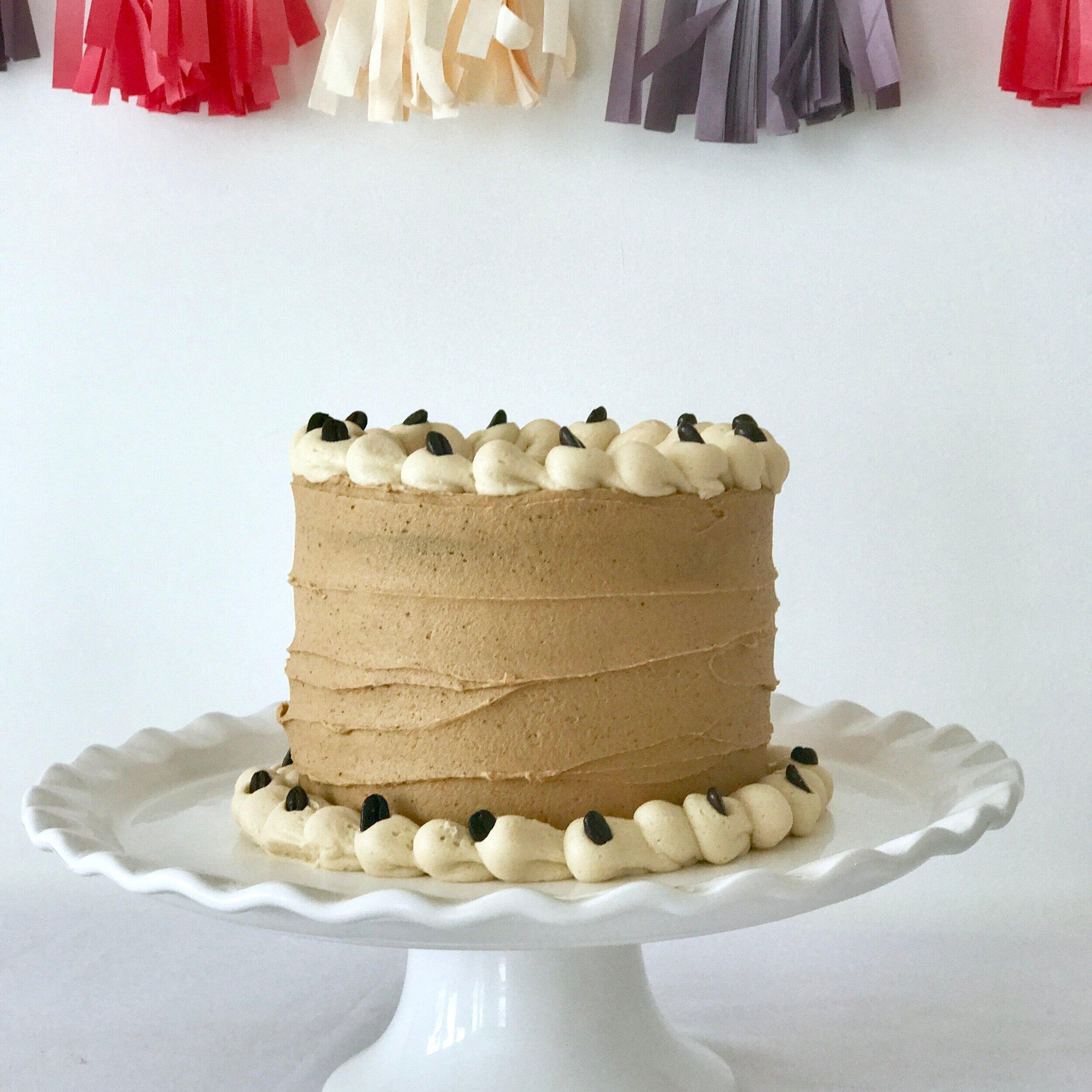 CAPPUCCINO CAKE (GF/DF/P)   Made with organic coffee