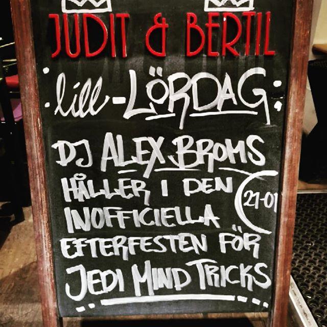 Om man undrar vart man ska ta vägen ikväll.. J&BJ&BJ&B!! #juditochbertil #juditbertil #hiphop #cocktails #hornstull #bortabraväckonsdagbäst