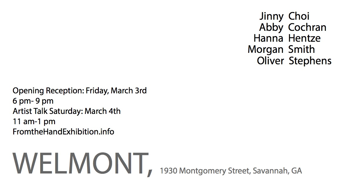 https://scadpainting.wordpress.com/2017/02/28/exhibition-from-the-hand-3-3-2017-6pm-9pm-welmont-savannah-ga/