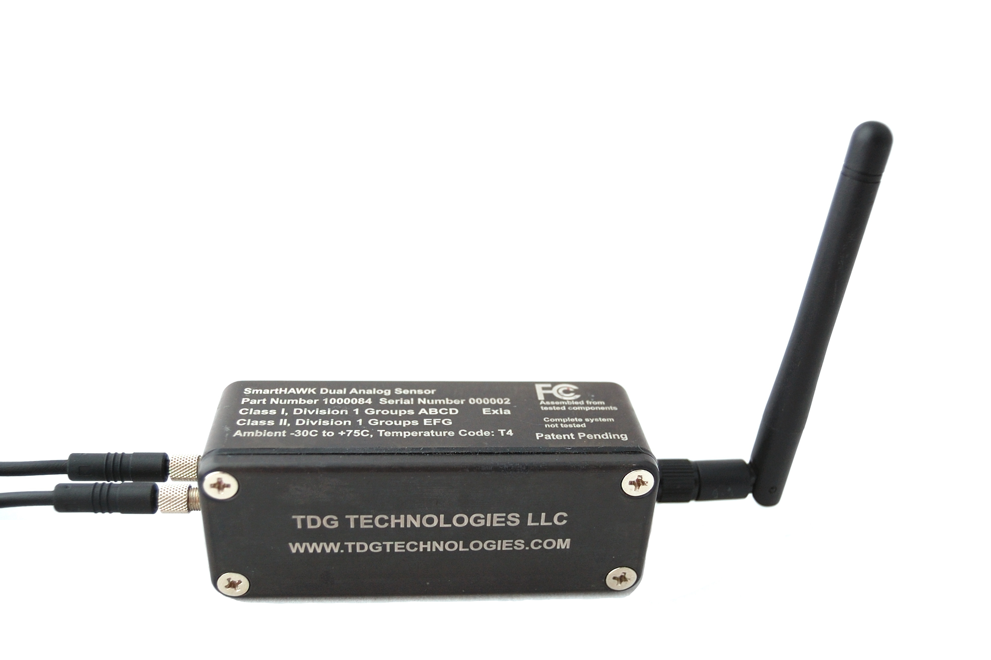 SmartHAWK Dual Analog Sensor provides a wireless solution for monitoring existing hard-wired equipment.