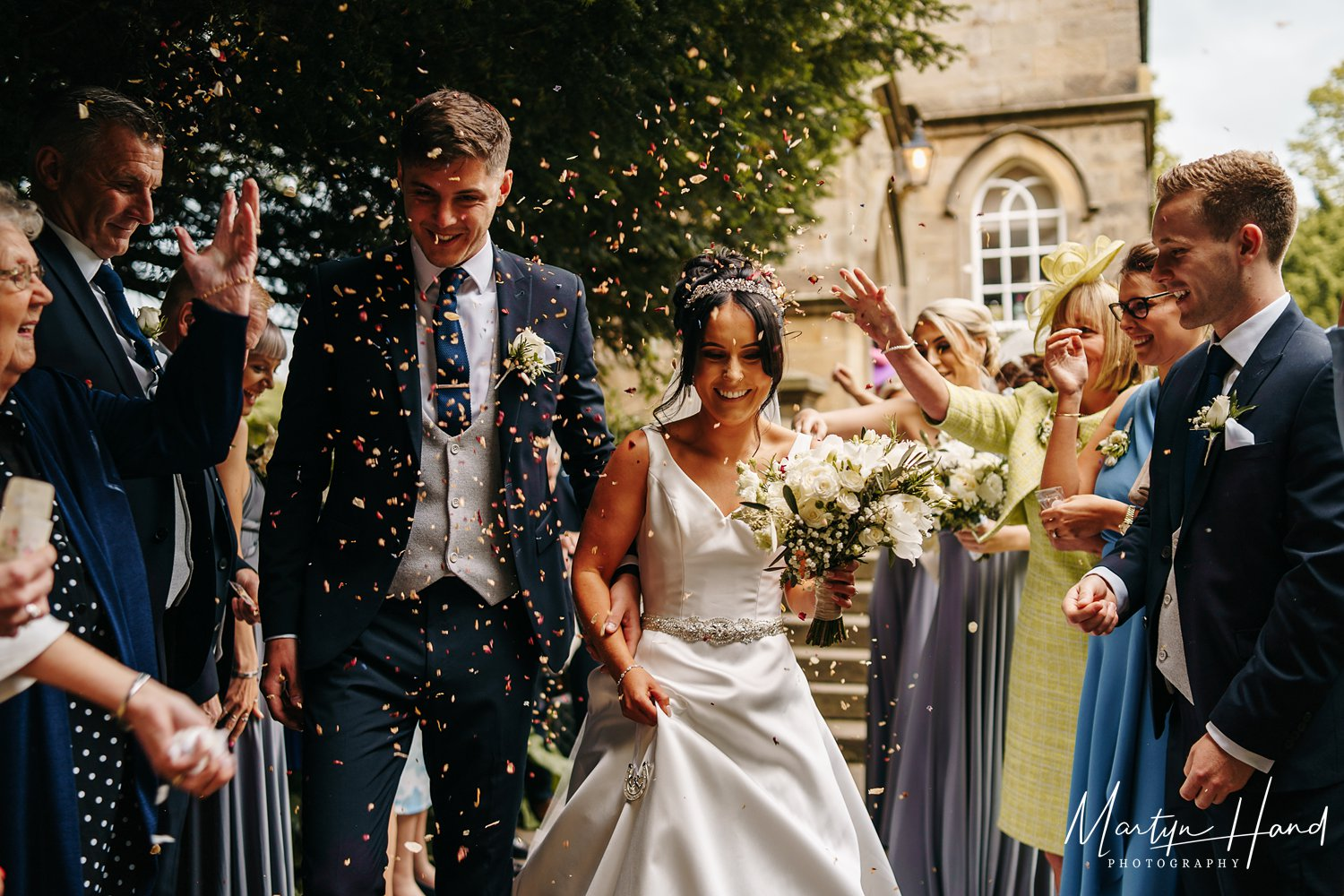 confetti yorkshire wedding denton hall