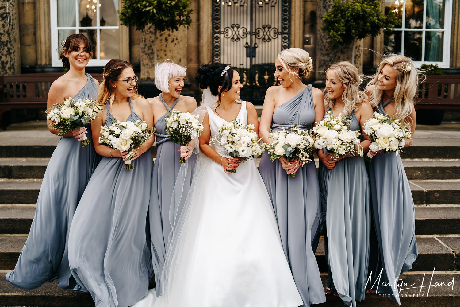 bridesmaids denton hall wedding photography