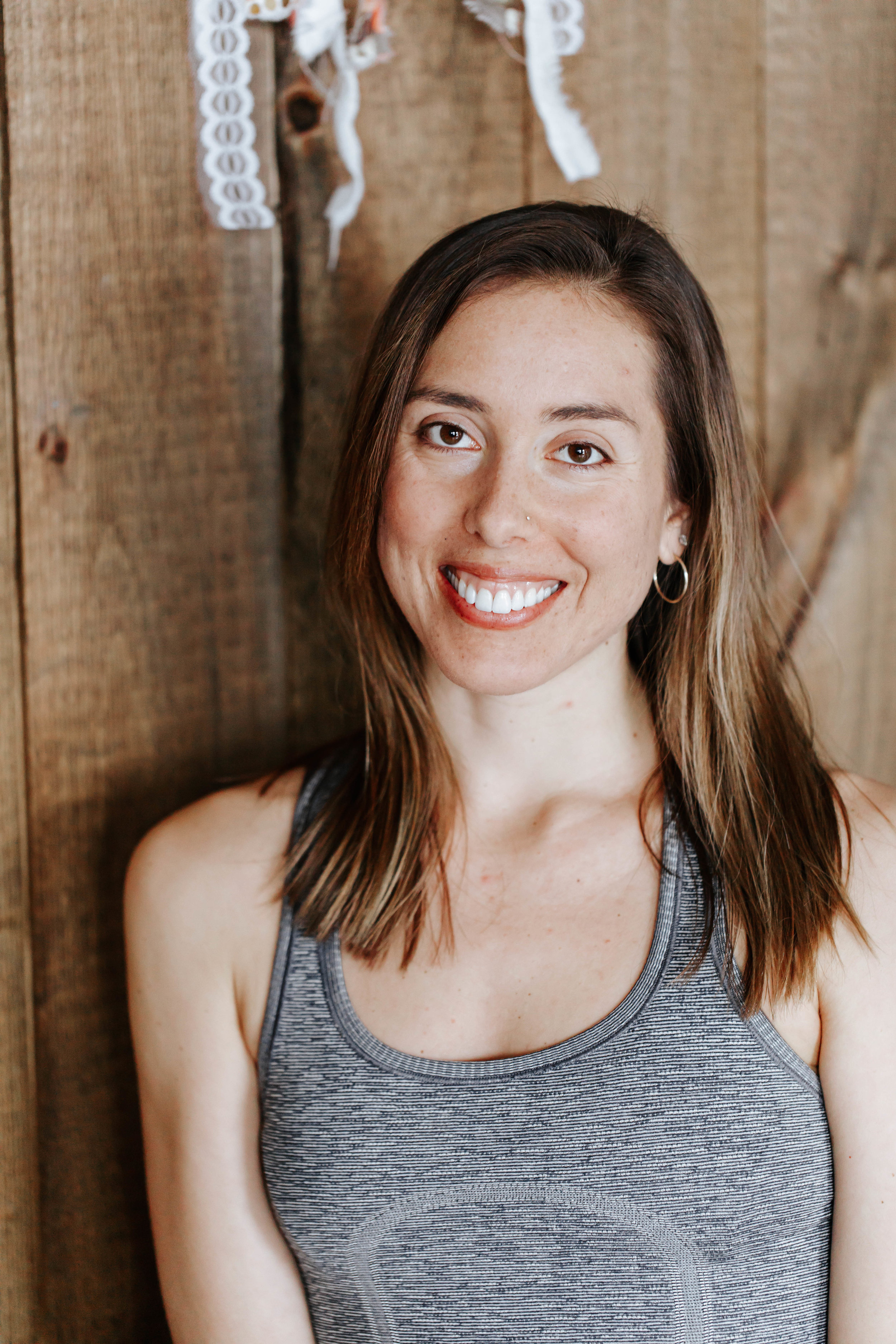 """Amy Gaster   Amy is a 500hr RYT Yoga Teacher and C-IAYT Yoga Therapist. She is so grateful to have begun her practice at the age of 18 and has not looked back since. Amy did her first 200-hr teacher training at Joschi Institute of Manhattan in 2013. Her early teaching days were very influenced by one of her first teachers, Gina Lee in Long Island, NY. The roots of her practice and teaching are in Vinyasa Yoga, a strong and integrative flow. Currently her practice and trainings have evolved into Yoga Therapy; a therapeutic, individualized variation to the practice. This approach to Yoga takes into account our unique situations and invites the practice to be molded to suit us, rather than us to suit the practice. In 2015, Amy began Yoga Therapy training with Inner Peace Yoga Therapy, based in Durango, CO. Learning under the guidance of senior teachers such as Neil Pearson, Maria Mendola, Dr. Marc Halpern, Nischala Joy Devi , Amy Weintraub, Laura Kupperman, and Michele Lawerence. It is her passion and privilege to have worked with many individuals over the past 4 years and to watch the impact Yoga has on their physical, emotional, and spiritual well-being.  """"With great respect and honor, I hold space for the person in front of me with an approach based in: intuition, empathy, and research and information gathering in order to better understand their limitations and needs. I am truthful in what I know and do not know so that I can design a practice that meets them where they are at and helps bring them to where they want to go, including meditation, mindfulness, relaxation, mudras, breath work, and asana (Yoga postures). I believe the mindful and multi-faceted approach of Yoga provides an opportunity for us to accept life exactly as it is at this very moment, finding joy and peace in every single day, no matter our circumstances. """"  Yoga has helped Amy soothe and heal anxiety and physical discomfort. Being a Yoga Therapist has bridged her passion for Yoga and purposeful"""