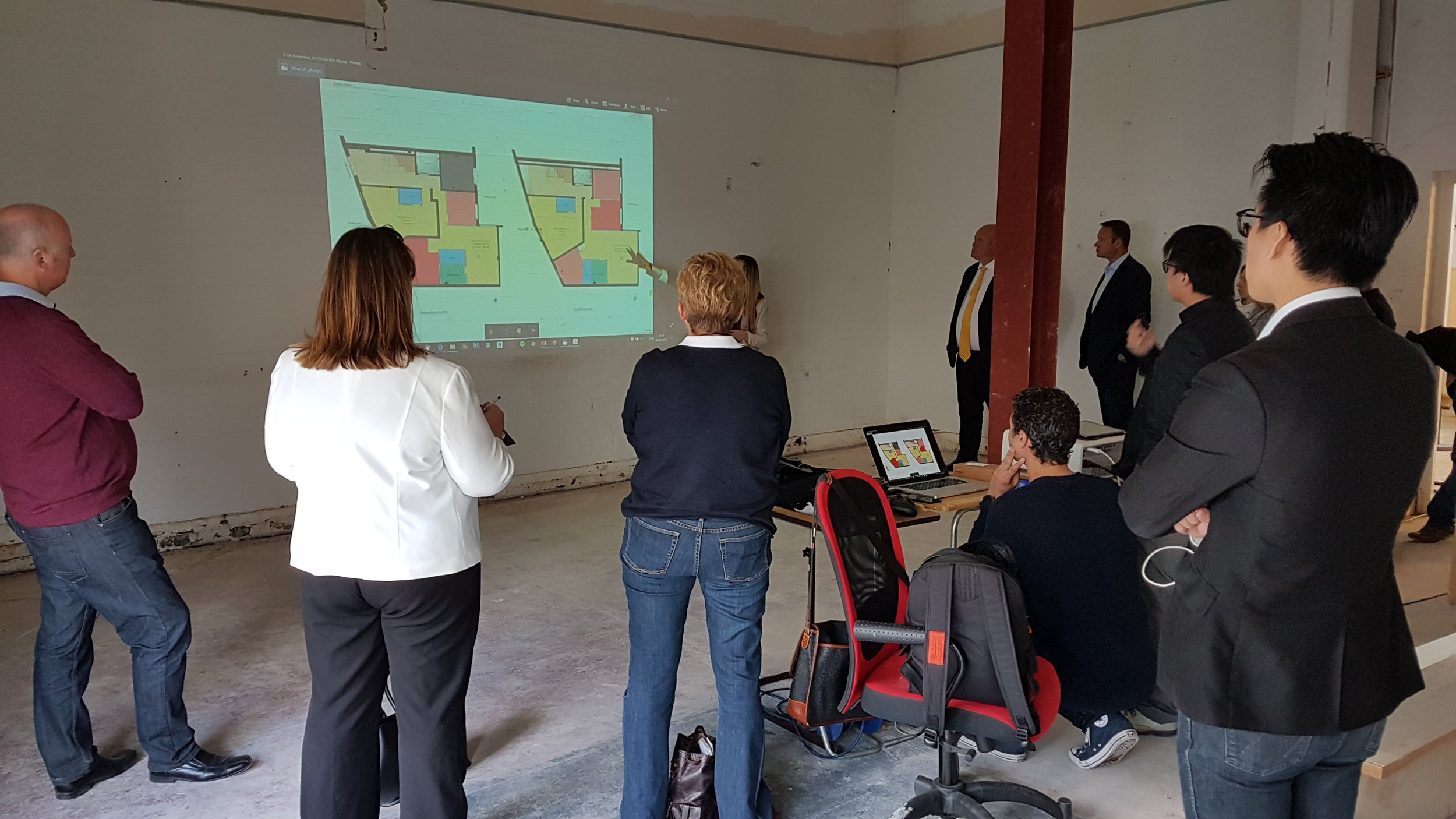 Presentation to an audience of property investors, project managers and finance experts