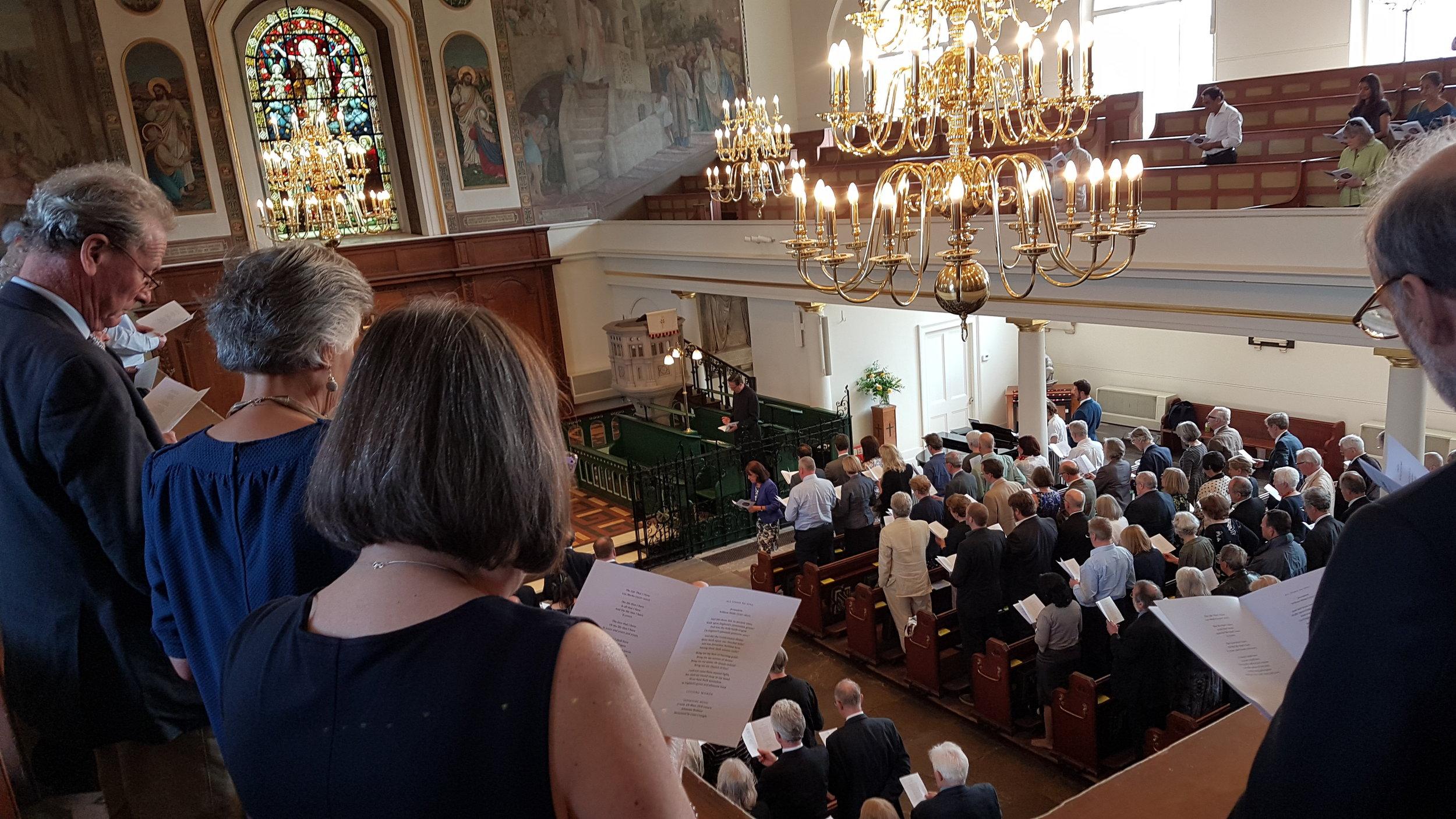 Tom Ryland Memorial Service 21st April 2018. St Peter's Church, Black Lion Lane. Hammersmith London .