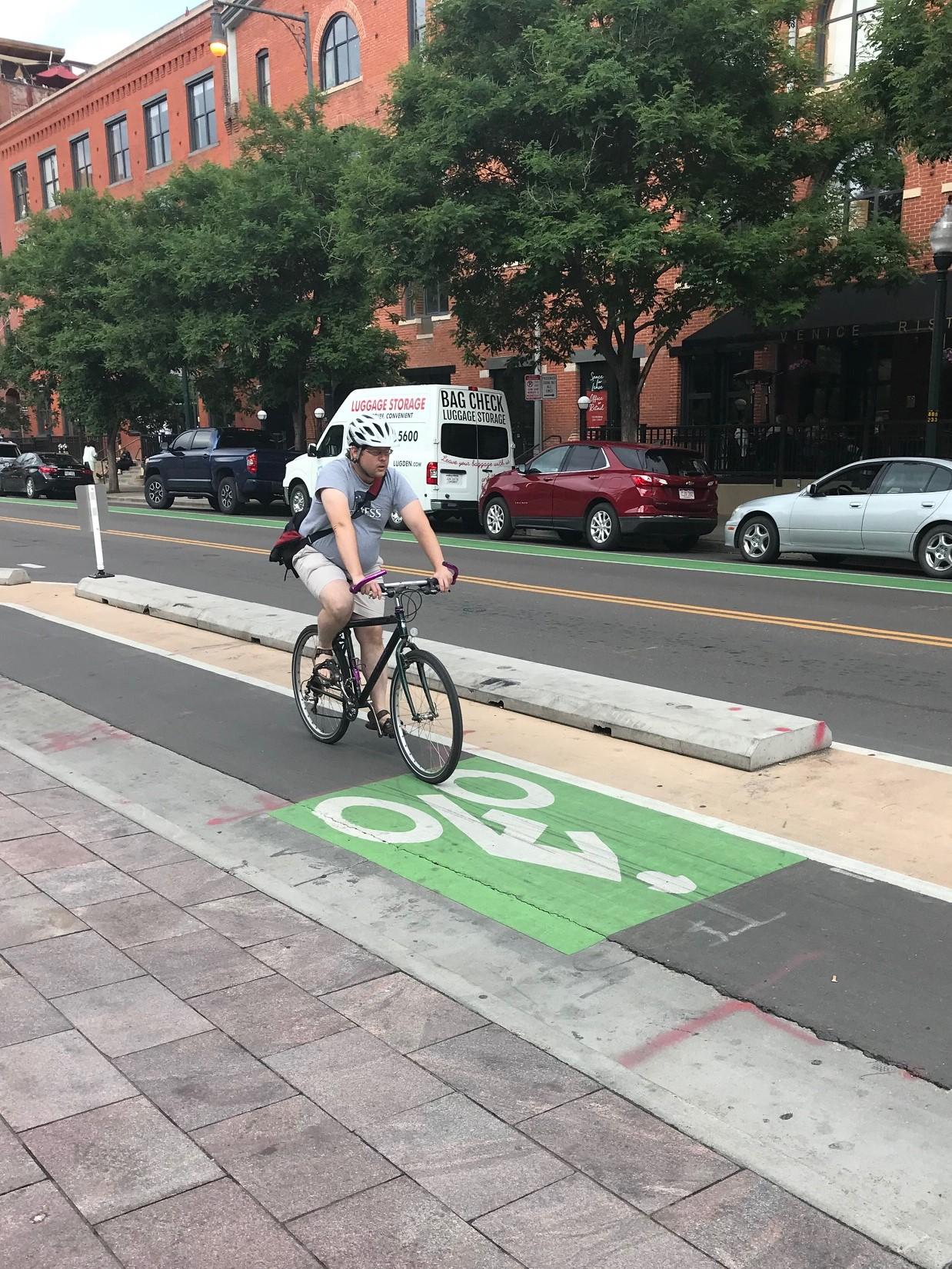 Denver has 130 miles of bike lanes
