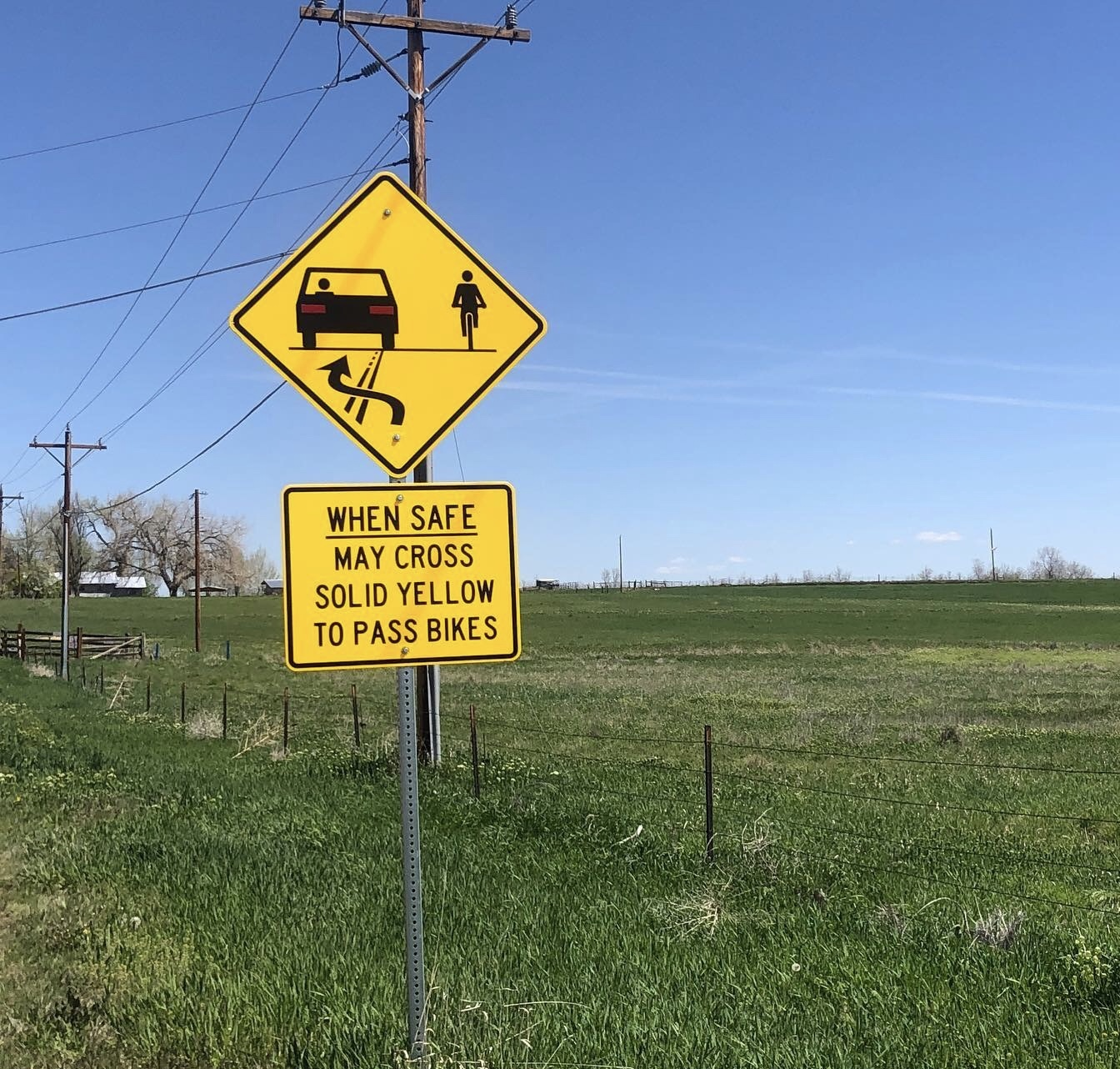 Actual signage in Boulder County thanks to Cyclists4Community and Boulder County Government