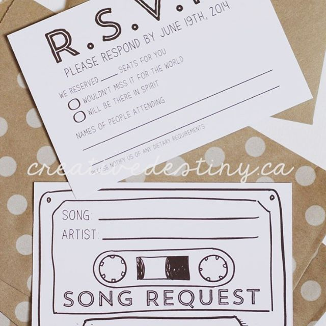 Happy Friday! This is an amazing idea to make sure everyone gets to 💃 to their favorite song at your wedding 🎶 ⎜📷: @creativedestinystationery #wedding #weddinginspo #weddinginspiration #savethedate #weddingday #weddingsong #weddingmusic #bridetobe #lovesong #weddingivites #weddinginvitations