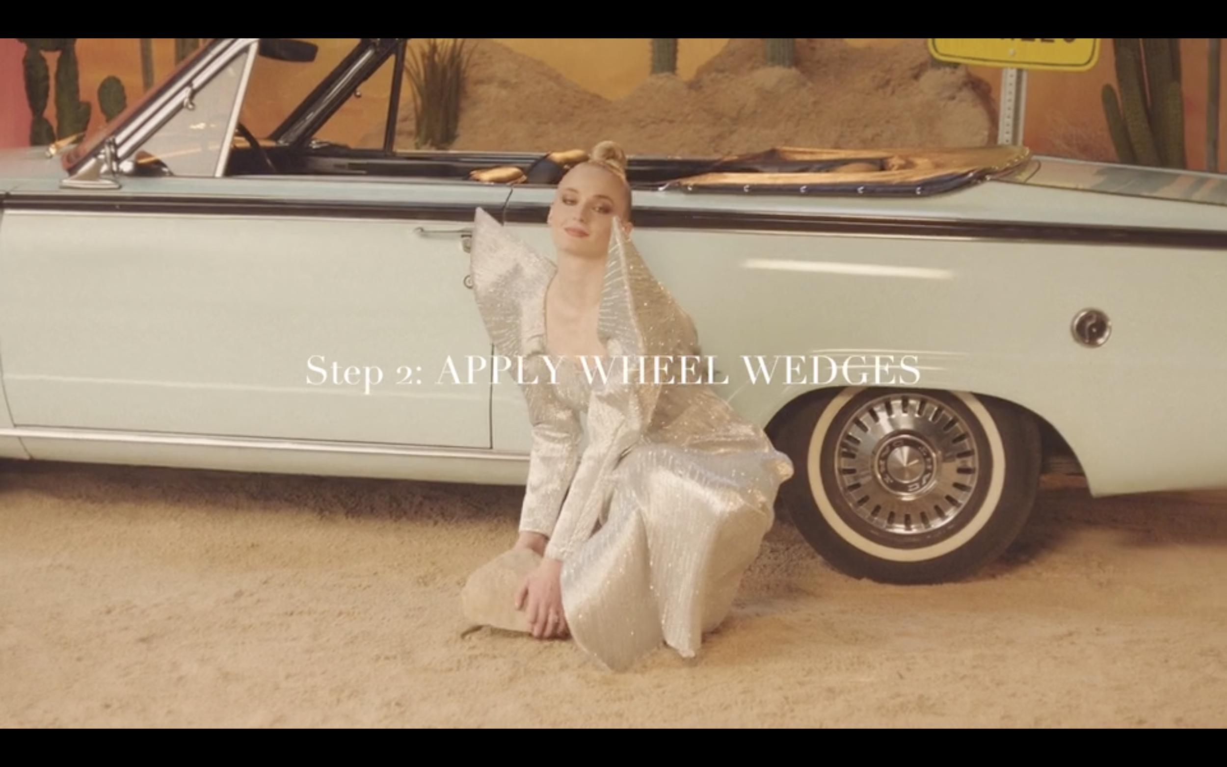 """Vogue """"Do it the Vogue Way: How to Change a Tyre with Sophie Turner"""" (Director's Cut)"""