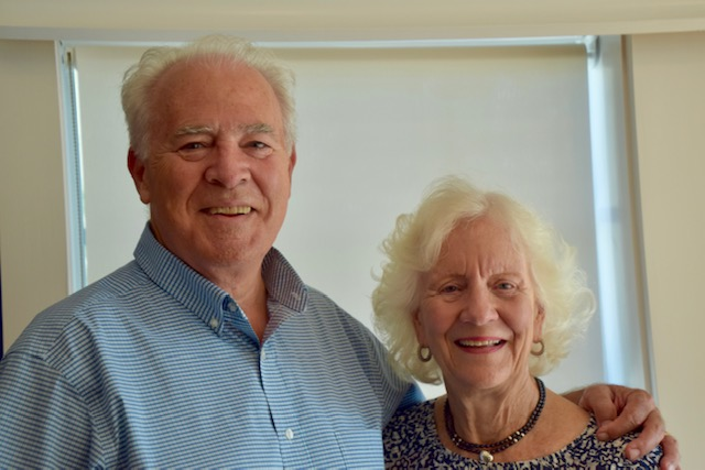 Chip Roach, current Chairman of the Board and wife Nancy.