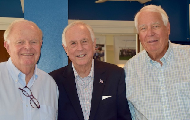 From left to right, Bob Berendt, Al Hanser and Ralph Clark