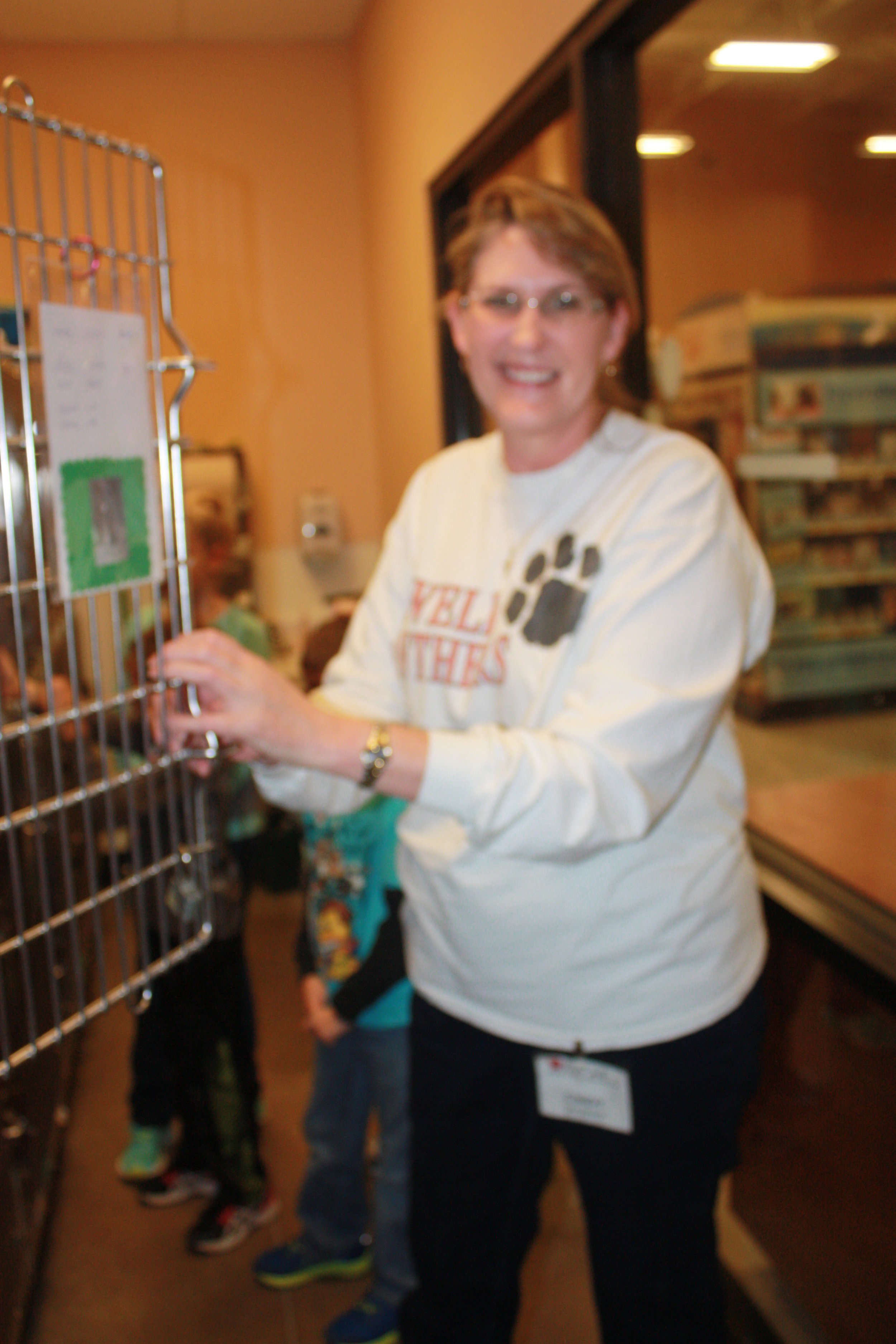 Wendy, working hard to get our cats adopted at PetSmart