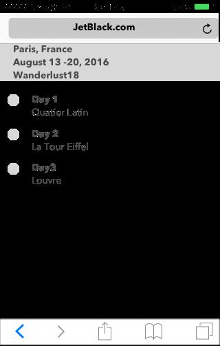 Selected Itinerary