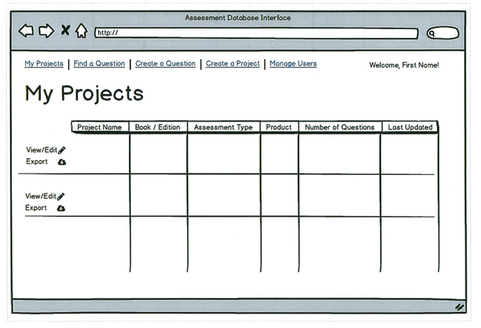 My Projects Screen