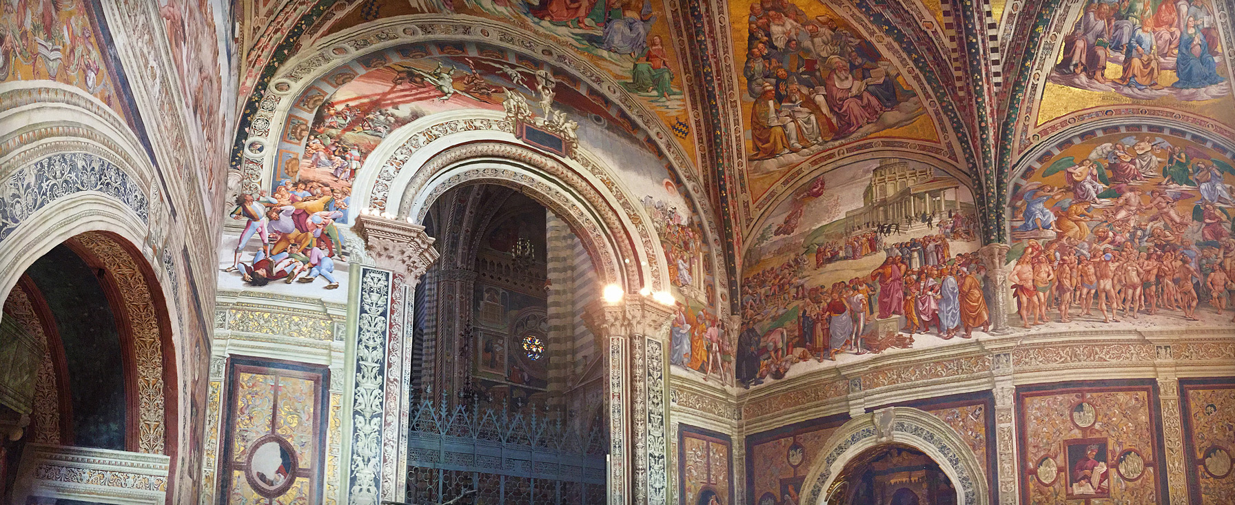 The opulent Chapel of San Brizio in Italy