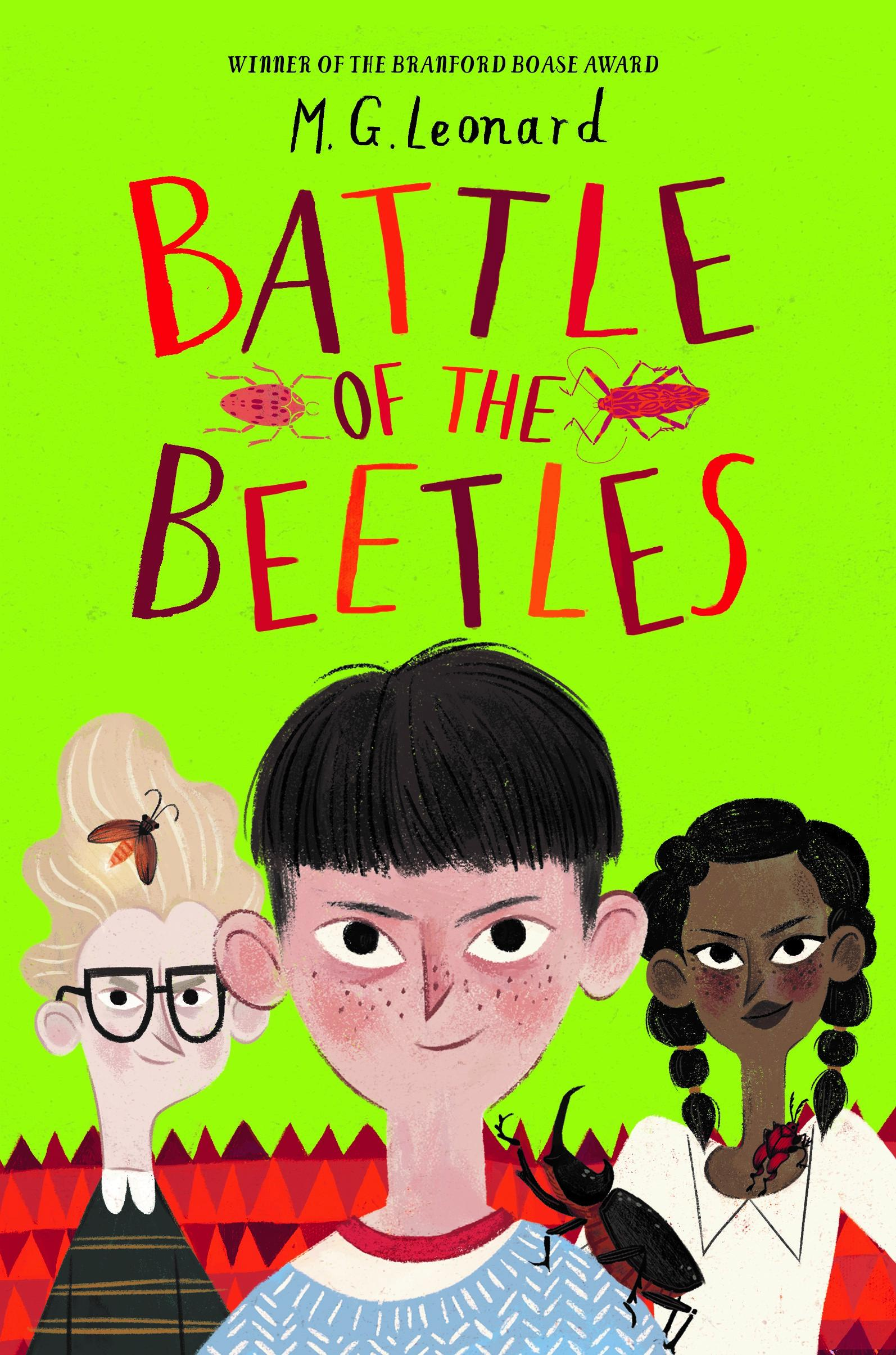 M G Leonard book jacket Battle of the Beetles.jpg