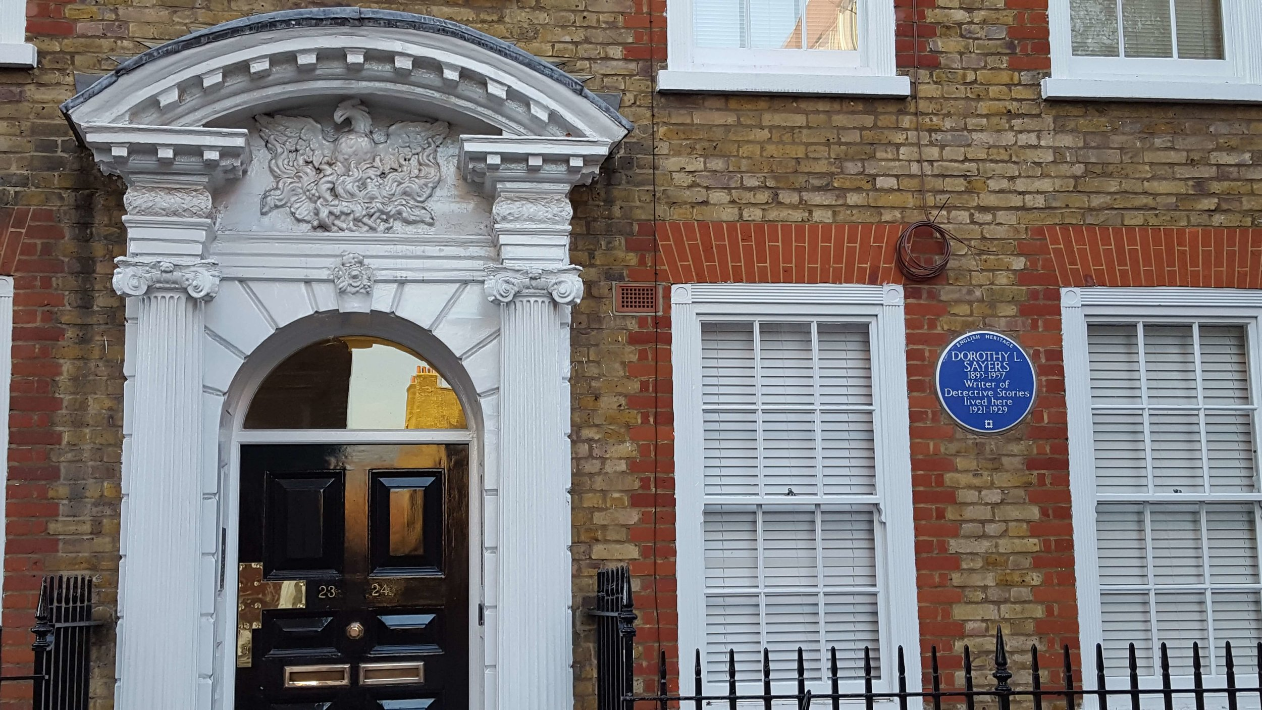 This is the home of Dorothy Sayers , a  renowned English crime writer, part of our Bloomsbury literary walking tour. Get ready to add some new writers to your reading list!