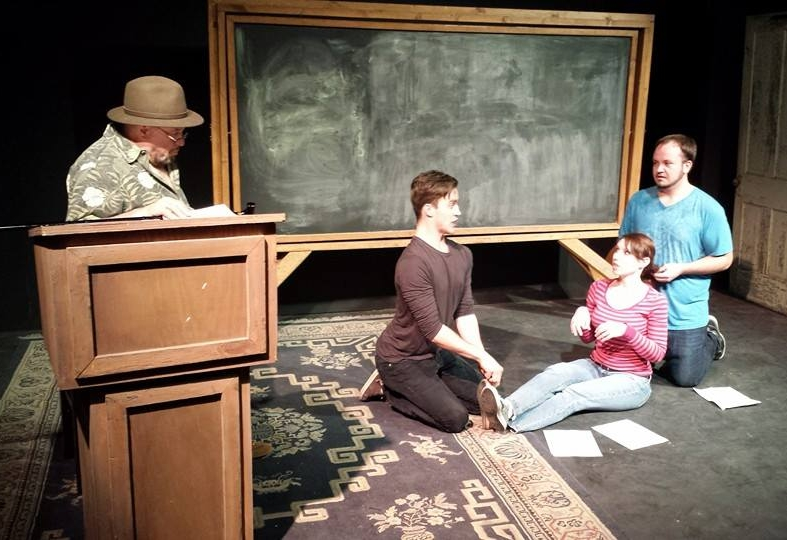 Victor Raider-Wexler, Seth Macchi, Amy Attaway, and Ryan Hruza rehearsing in 2015.