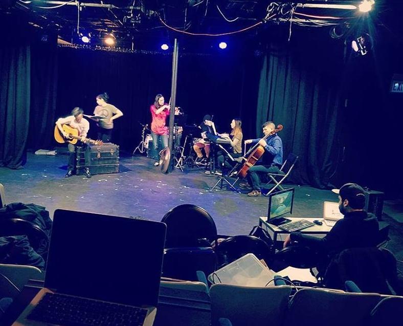 A quick & dirty tech rehearsal for Butcher's Son. Photo: Mackenzie Goodwin-Tran
