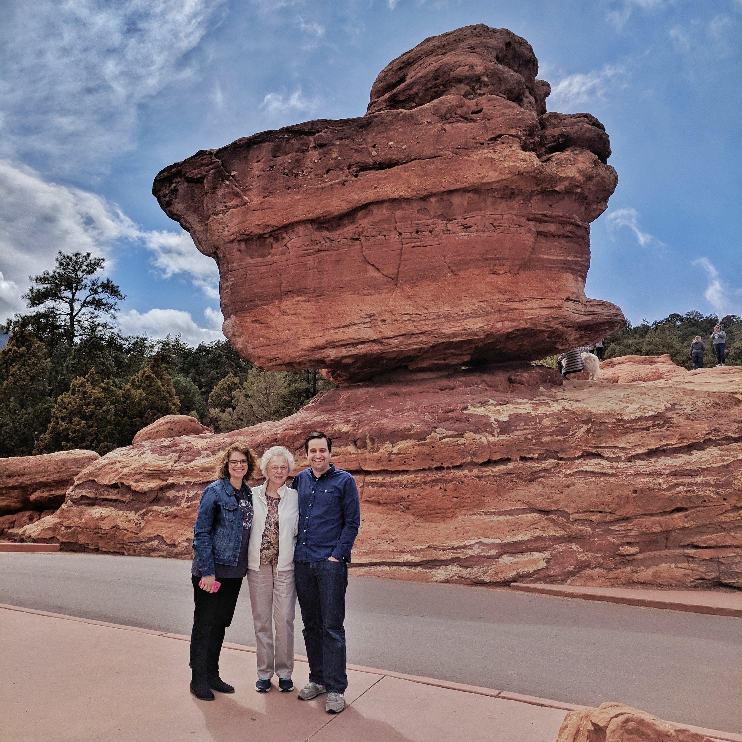 My mom, grandma, and I at Balanced Rock