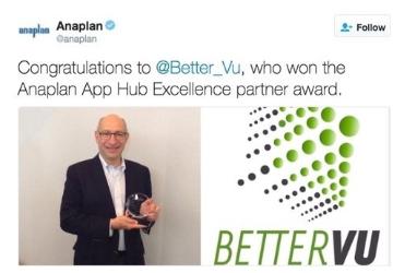 Anaplan App Hub Excellence Partner Award