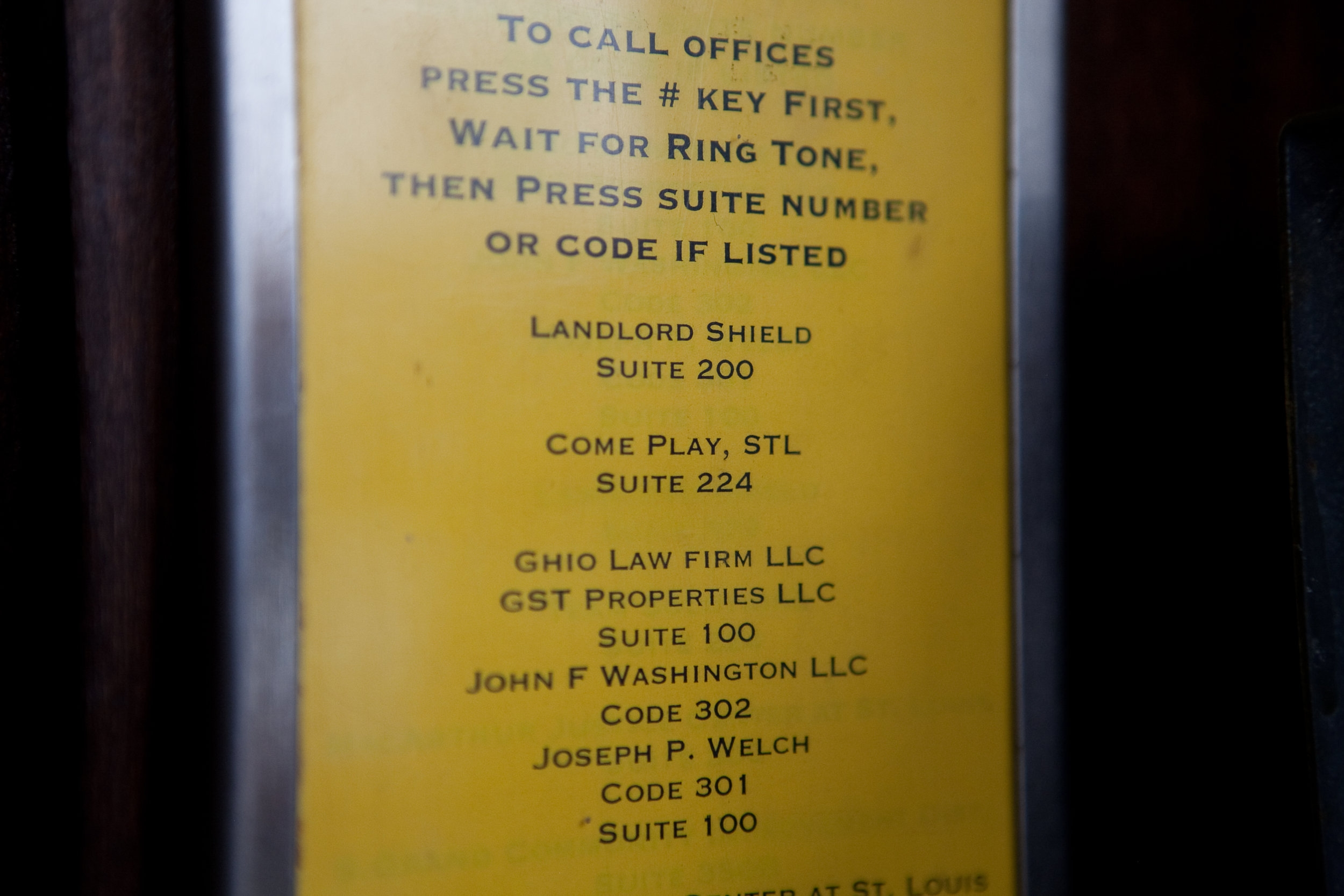 Dial #224 to get buzzed in by Come Play, STL