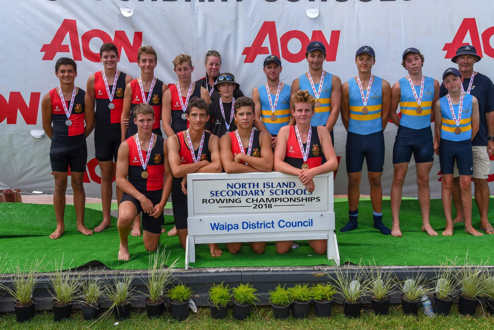 The Boys U15 Coxed Quad Sculls (as pictured above - Blake Jowsey, Ethan Welch, Callum Nicholson, Anthony Peters and Max Conder) won bronze medals. Coach Alex Brown.