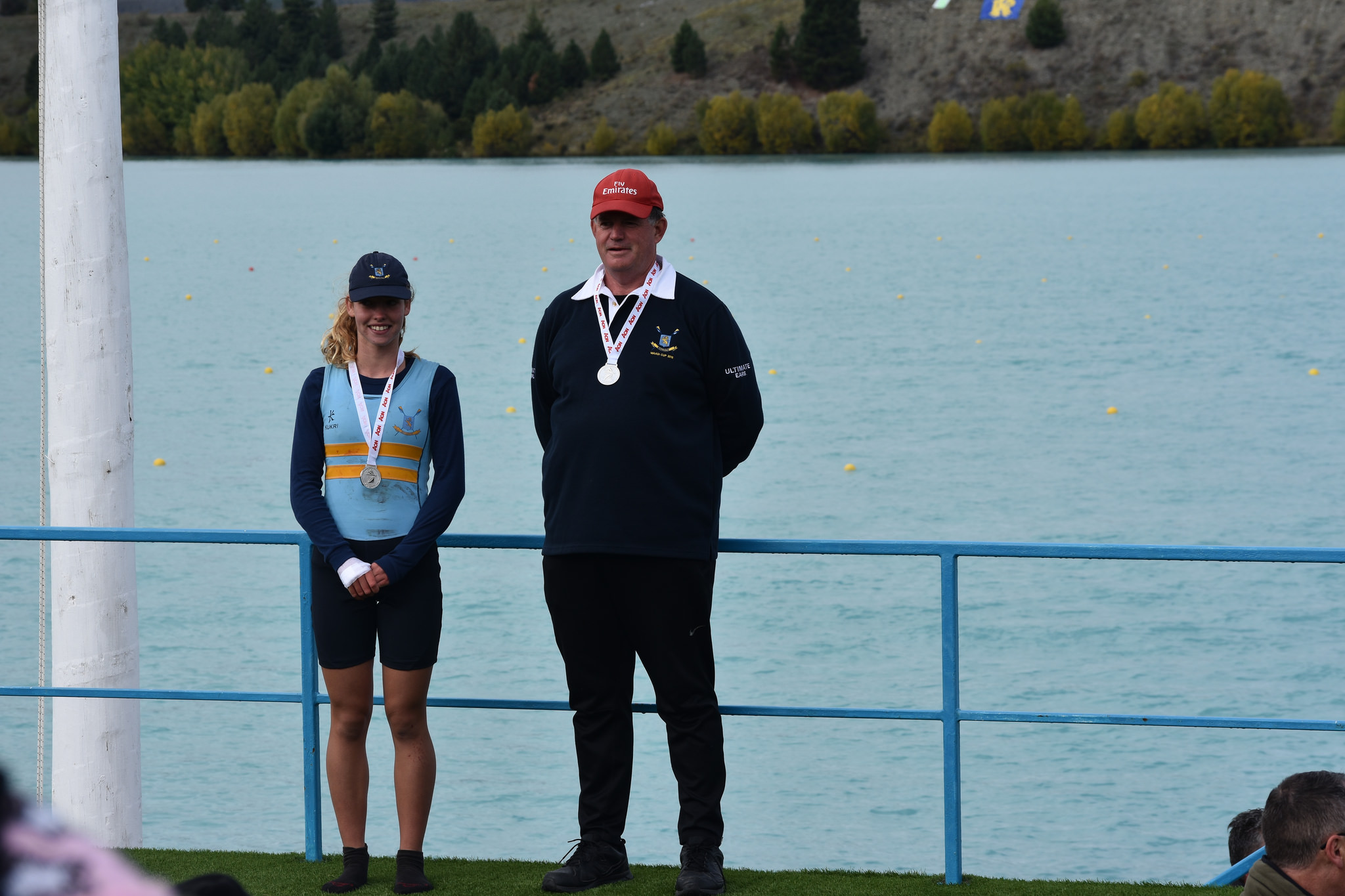 Holly Chaafe - G U16 1X Silver medalist in the NZ Secondary Schools Rowing Championship Regatta. Coach John Cook.