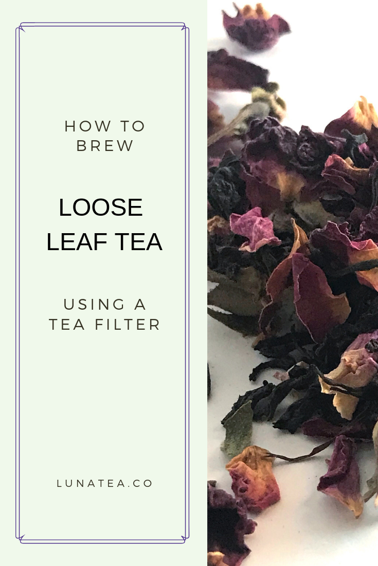 brew tea with a filter