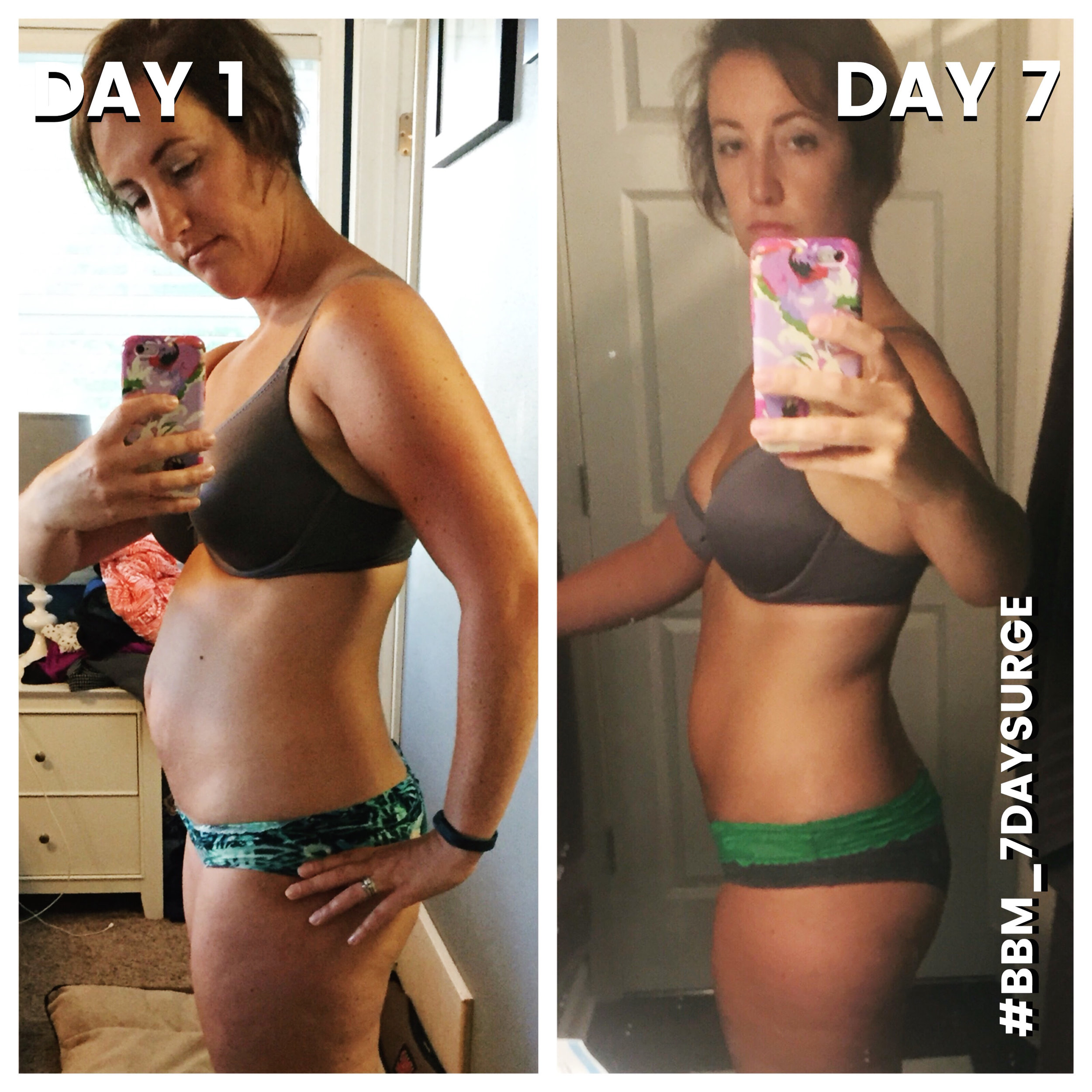 """Liz LOST 8 POUNDS on the 7 DAY SURGE!   I've been following Briana for 3 years. I finally pulled the trigger on the surge when I realized that when I stopped nursing my 1 year old I couldn't get the weight off. Boy did this work! I followed the meal plan and exercise 100%. It was hard but I got it done. I've learned some great recipes and have been able to keep up the majority of the nutrition even a week later. I lost 8 pounds and 6.25"""" during the surge! I look forward to following you and seeing the other amazing things you come up with for or community! Thank you Briana!"""