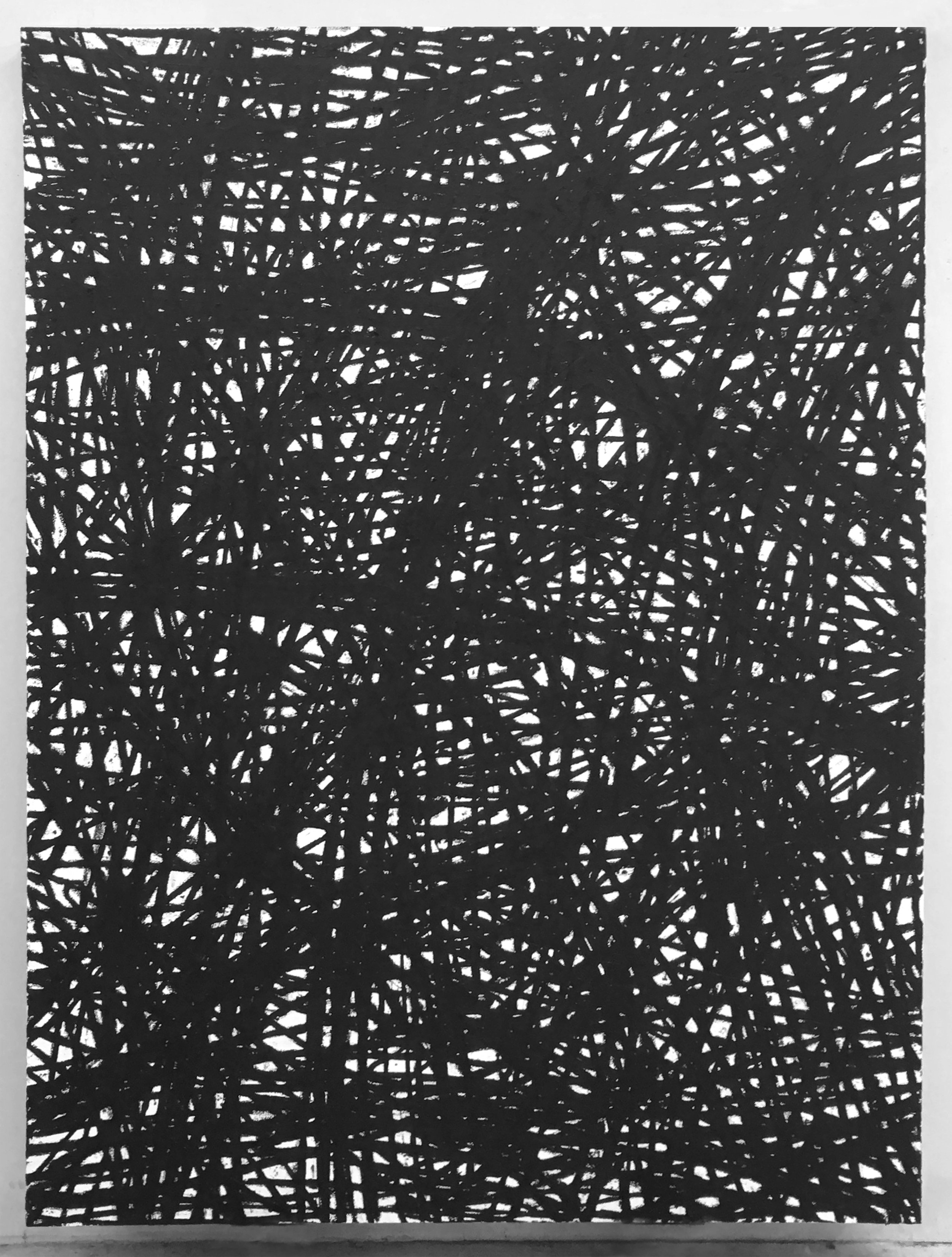 Frenesi, 2016, oilbar on canvas, 74 x 56 x 3 inches