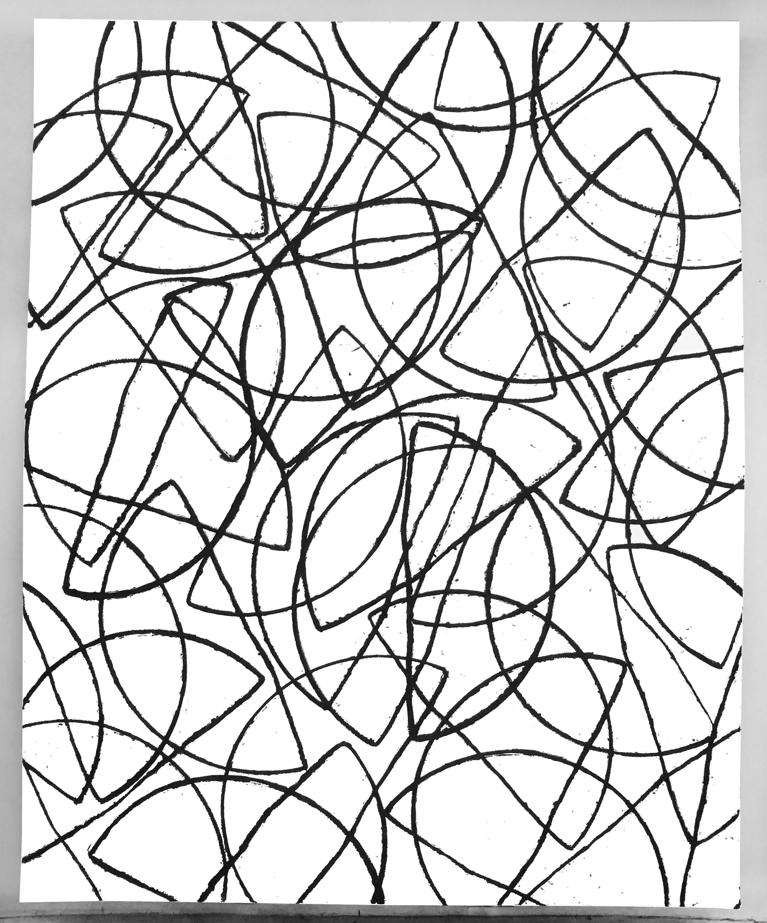 Semis, 2016, oilbar on canvas, 92 x 74 x 3 inches