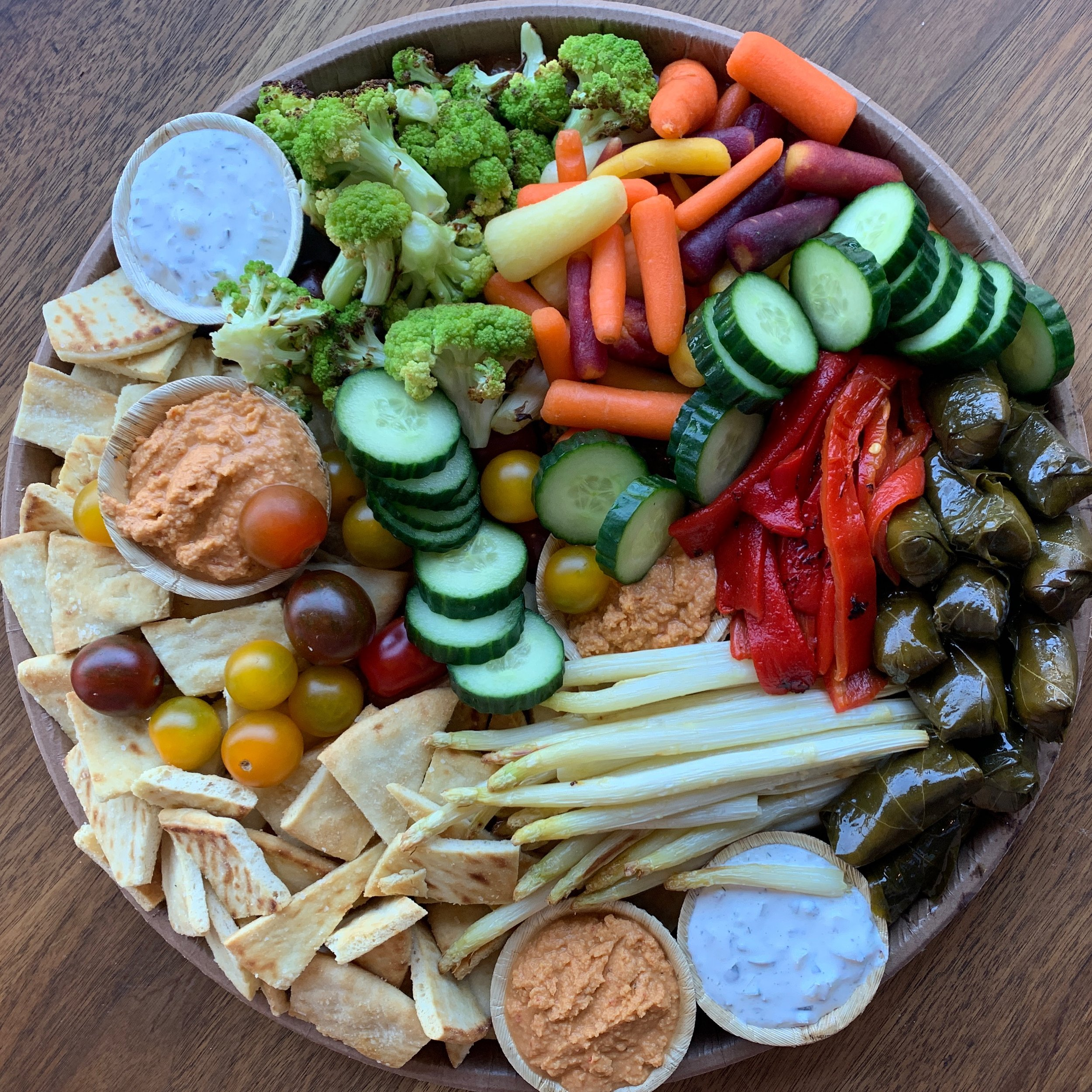 Platters for vegetarians and vegans.