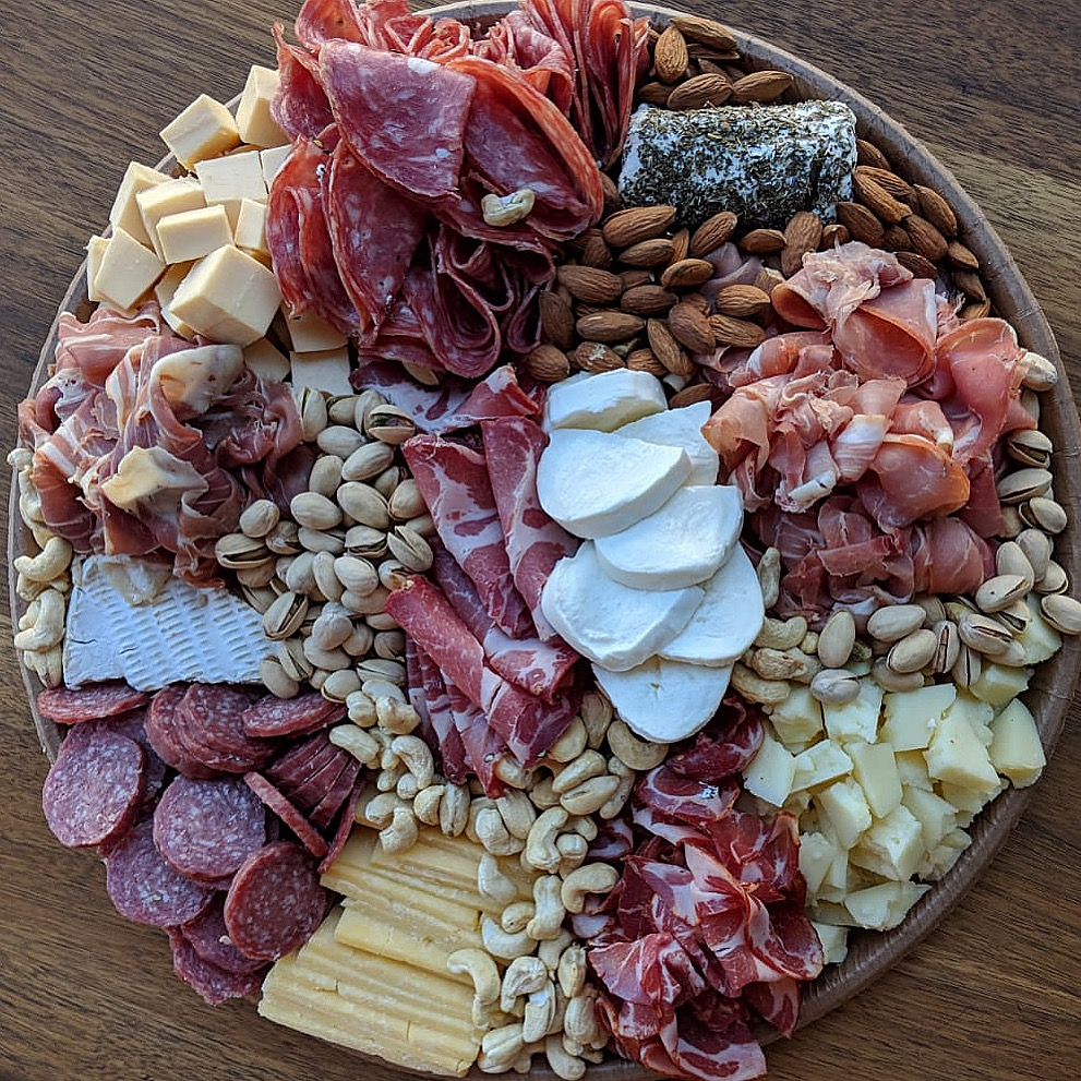 Platters for meat and cheese lovers.