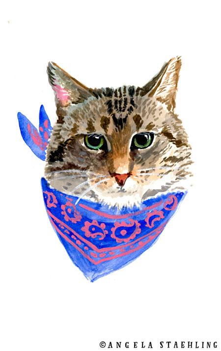 Cat With Handkerchief