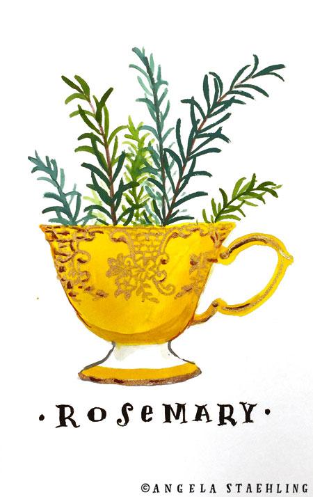 Rosemary Teacup